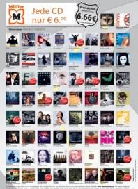Müller Preisaktion auf CDs im Sommer 2012 März 2012 KW13