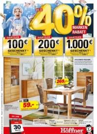 Höffner 40 % Markenrabatt April 2012 KW15