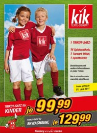 Kik Trikot-Satz für Kinder Mai 2012 KW18