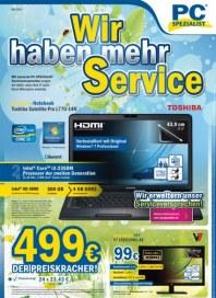 PC-SPEZIALIST Wir haben mehr Service Mai 2012 KW19