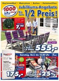Dänisches Bettenlager Jubiläums Angebote Mai 2012 KW20