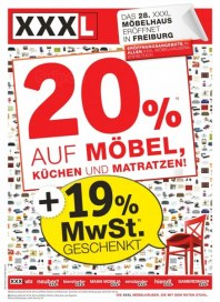 XXXL 20 Prozent auf Möbel, Küchen, Matratzen Mai 2012 KW22