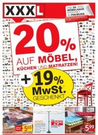 XXXL 20% Möbel, Matratzen und Küchen Juni 2012 KW23