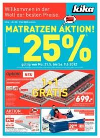 Kika Matratzen Aktion Mai 2012 KW21