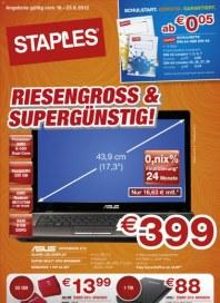 Staples Riesengross & Supergünstig Juni 2012 KW24