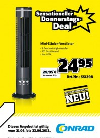 Conrad Sensationeller Donnerstags-Deal Juni 2012 KW25 2