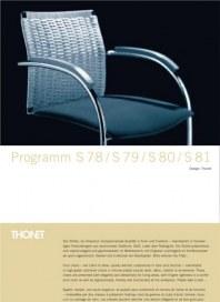 THONET GmbH Stuhlprogramm S 78 / S 79 / S 80 / S 81 Mai 2012 KW21