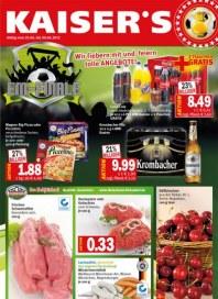 Kaiser's Wir fiebern mit und feiern tolle Angebote Juni 2012 KW26