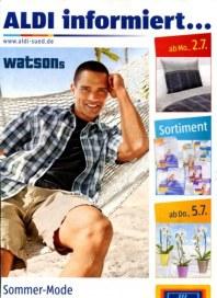 Aldi Süd Sommer-Mode für den Mann Juli 2012 KW27