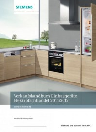 Siemens-Electrogeräte GmbH Einbaugeräte Programm Elektrofachhandel 2012 Januar 2012 KW52