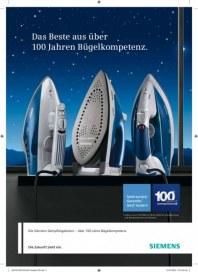 Siemens-Electrogeräte GmbH 100 Jahre Bügelkompetenz Juni 2012 KW22