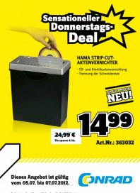 Conrad Sensationeller Donnerstags-Deal Juli 2012 KW27