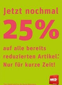 NKD Jetzt nochmal 25% Juli 2012 KW28