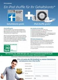 PSD Bank Ein iPod shuffle für Ihr Gehaltskonto Juli 2012 KW28