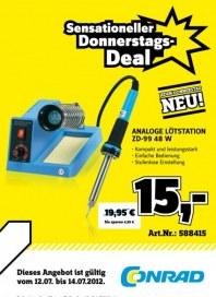 Conrad Sensationeller Donnerstags-Deal Juli 2012 KW28