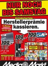 MediaMarkt Herstellerprämie sichern Juli 2012 KW29