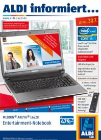 Aldi Süd Entertainment Notebook Juli 2012 KW31