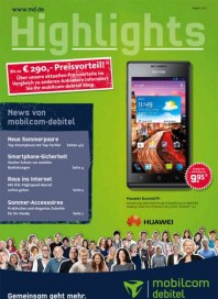 mobilcom-debitel Highlights Juli 2012 KW31