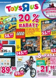 Toys'R'us 20% Rabatt August 2012 KW31