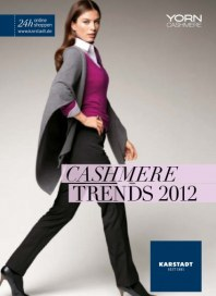 KARSTADT Cashmere Trends August 2012 KW32