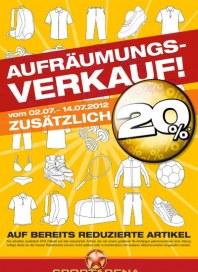 Sportarena Aufräumungsverkauf Juli 2012 KW28