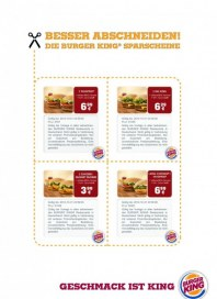 BURGER KING Gutschein 1 August 2012 KW31