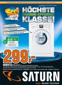 Saturn Höchste Energie-Effizienz Klasse August 2012 KW32