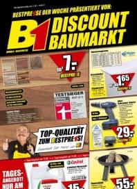 B1 Discount Baumarkt Hauptflyer August 2012 KW32 1