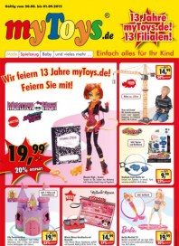 myToys.de Wir feiern 13 Jahre myToys.de! Feiern Sie mit August 2012 KW34