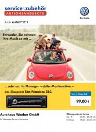 Volkswagen Aktionsangebote für den schönsten Sommer 2012 Juli 2012 KW26 1