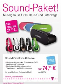 Telekom Shop Sound-Paket August 2012 KW34
