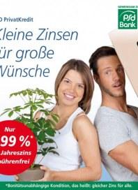 PSD Bank Kleine Zinsen für große Wünsche August 2012 KW34