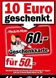 MediaMarkt 10 Euro geschenkt August 2012 KW34