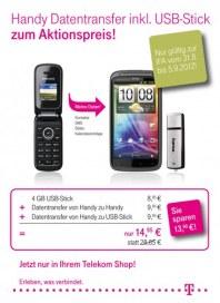 Telekom Shop Handy Datentransfer zum Aktionspreis August 2012 KW35
