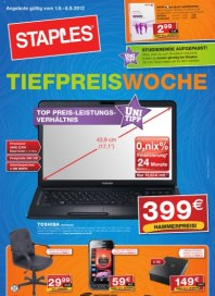 Staples Tiefpreiswoche September 2012 KW35