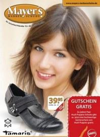 Mayer's Markenschuhe Monatsflyer September 2012 KW37