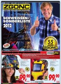 ZGONC Handel GmbH ZGONC Schweißen Sonderliste 2012 September 2012 KW37