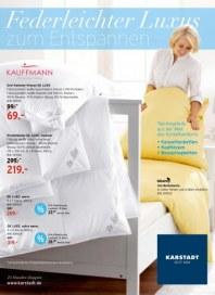 KARSTADT Matratzen und Bettwaren Federleichter Luxus September 2012 KW36
