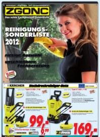 ZGONC Handel GmbH ZGONC Reinigung 17.09.2012 bis 30.09.2012 September 2012 KW38