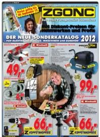 ZGONC Handel GmbH ZGONC Werkzeugkatalog 17.09.2012 bis 29.09.2012 September 2012 KW38