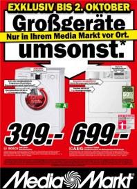 MediaMarkt Großgeräte umsonst September 2012 KW39