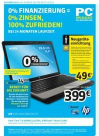 PC-SPEZIALIST 0 % Finanzierung = 0 % Zinsen, 100 % Zufrieden September 2012 KW39