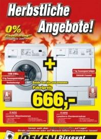 Joeken Discount Herbstliche Angebote Oktober 2012 KW40