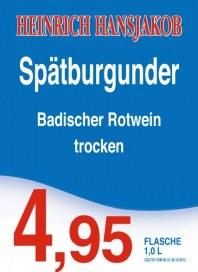 Getränke Hoffmann Spätburgunder Oktober 2012 KW41