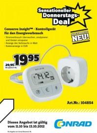 Conrad Sensationelle Aktions-Angebote Oktober 2012 KW41