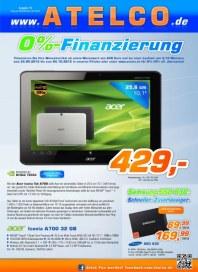 Atelco 0% Finanzierung September 2012 KW39