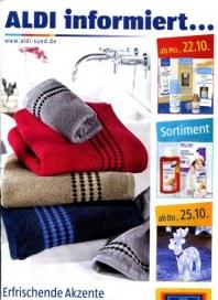 Aldi Süd Erfrischende Akzente für Ihr Wohlfühl-Bad Oktober 2012 KW43
