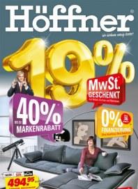 Höffner 19% MwSt. geschenkt Oktober 2012 KW42