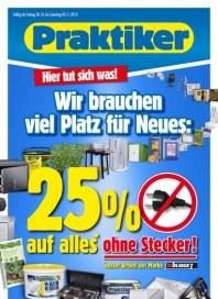 Praktiker 25% auf Alles Oktober 2012 KW43