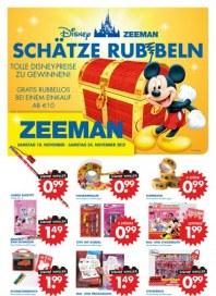 Zeeman Schätze rubbeln November 2012 KW45